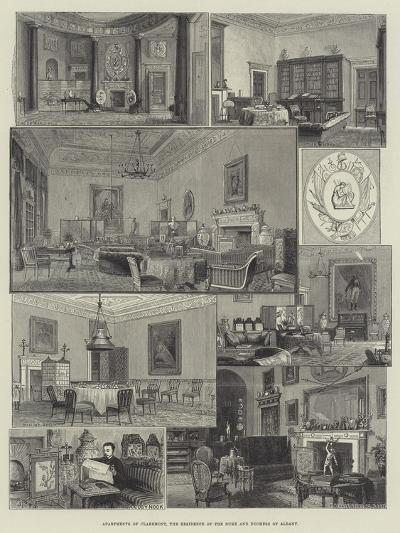 Apartments of Claremont, the Residence of the Duke and Duchess of Albany--Giclee Print