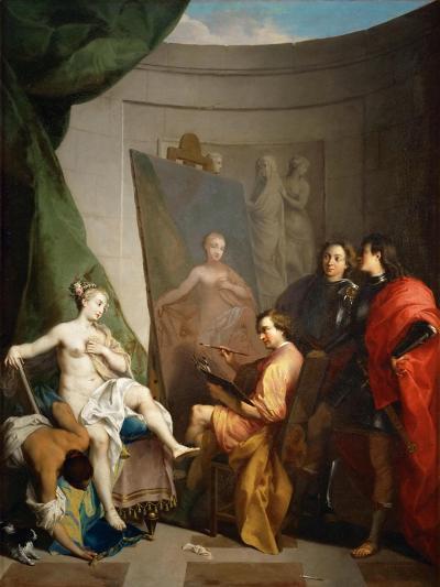 Apelles Painting Campaspe-Nicolas Vleughels-Giclee Print