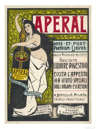 Aperal, Aperitif Which May be Drunk on Its Own or Mixed with Your Coffee--Giclee Print