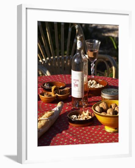 Aperitif and Appetizers, Domaine Du Lou Coteau Varois En Provence, Clos Des Iles-Per Karlsson-Framed Photographic Print