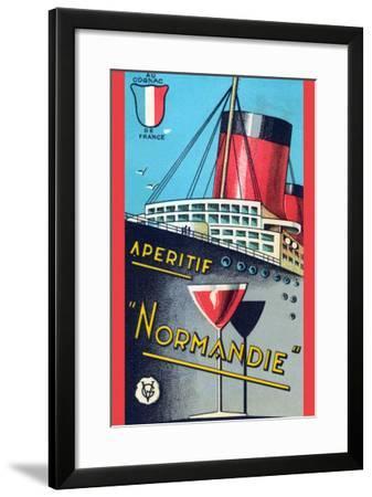 Aperitif Normandie--Framed Art Print