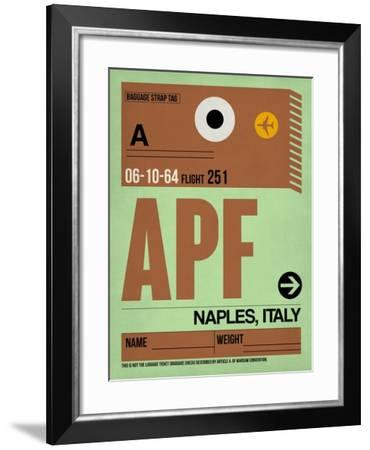 APF Naples Luggage Tag I-NaxArt-Framed Art Print