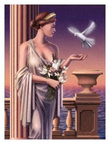 Aphrodite Feeding a Dove