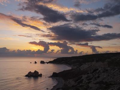 Aphrodite's Rock at Sunset, Paphos, UNESCO World Heritage Site, South Cyprus, Cyprus, Mediterranean-Stuart Black-Photographic Print