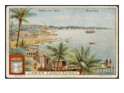 Apia Is the Capital and Principal Port of Western Samoa--Giclee Print