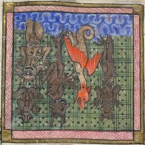 Apocalypse, Detail: Demons Falling from Heaven, Ca 1370-1375