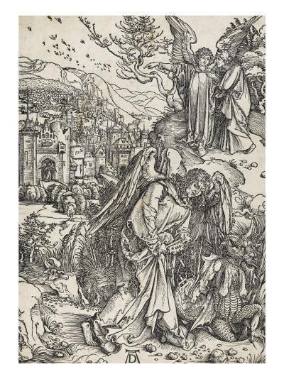 Apocalypse selon Saint Jean - L'ange portant la clé de l'Abîme-Albrecht D?rer-Giclee Print