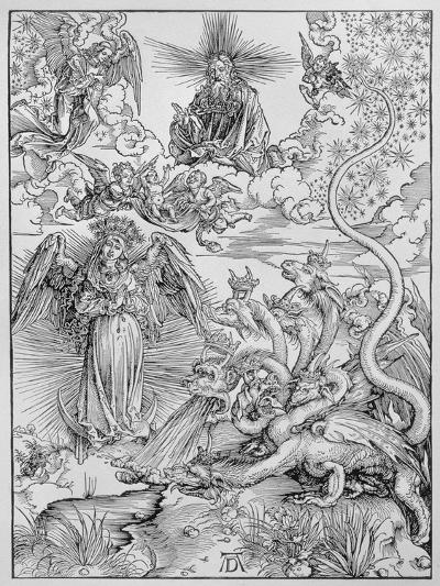 Apocalyptical Scene, from the Apocalypse or The Revelations of St. John the Divine, Pub. 1498-Albrecht D?rer-Giclee Print