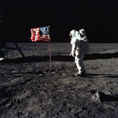 Apollo 11 Astronaut Buzz Aldrin During the First Lunar Landing, July 20, 1969