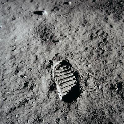 Apollo 11 Boot Print on the Moon. July 20, 1969--Photo