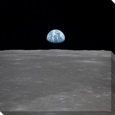 Apollo 11 Earth Rise over the Moon, July 20, 1969