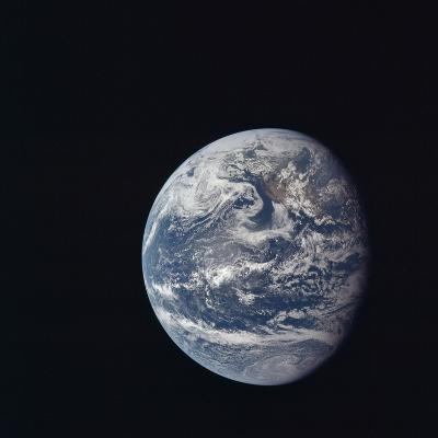 Apollo 11 Earth View from Space, July 17, 1969--Photo