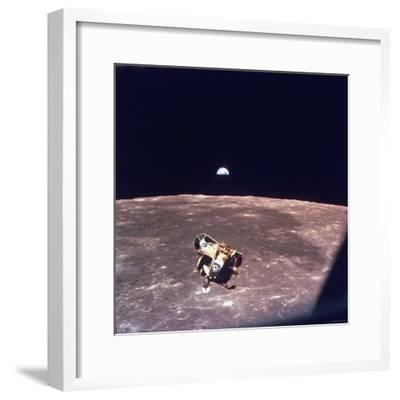 Apollo 11 Lunar Module Ascent Stage From Command Service Module During Lunar Orbit--Framed Premium Photographic Print