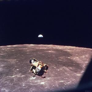 Apollo 11 Lunar Module Ascent Stage From Command Service Module During Lunar Orbit