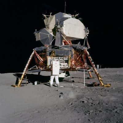 Apollo 11 Lunar Module on the Moon's Surface, July 20, 1969--Photo