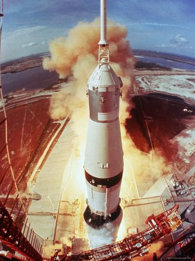 Apollo 11 Space Ship Lifting Off on Historic Flight to Moon-Ralph Morse-Photographic Print