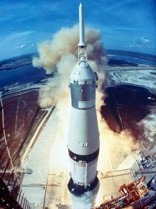 Apollo 11 Spacecraft Lifting Off Launch Pad at Cape Kennedy