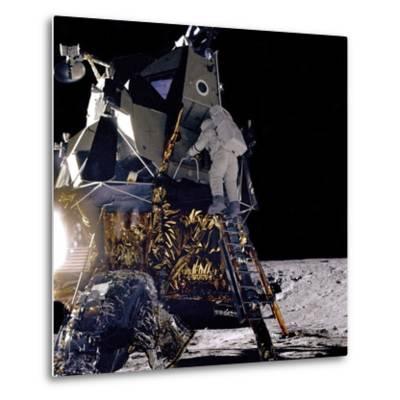 Apollo 12 Astronaut Alan Bean Starts Down Ladder of Lunar Module 'Intrepid'