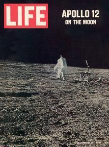 Apollo 12 on the Moon, Astronaut on the Moon, December 12, 1969