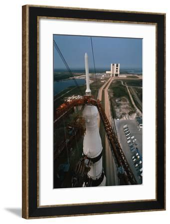 Apollo 15 atop Saturn 5 Rocket--Framed Photographic Print