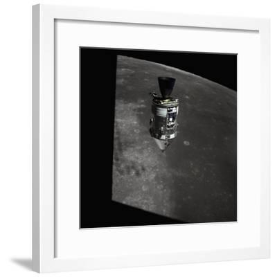 Apollo 15 Command Module Orbiting the Moon--Framed Photographic Print