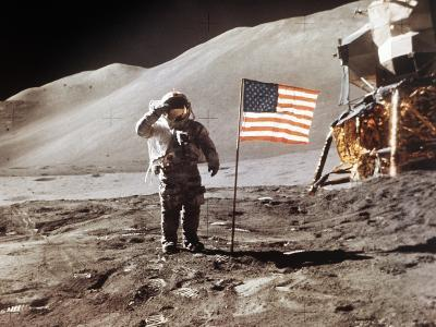 Apollo 15 Moonwalk 1971--Photographic Print