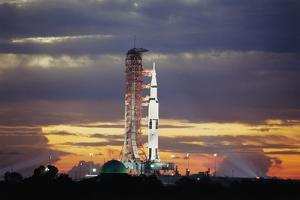 Apollo 17 and Launch Pad with Sunrise