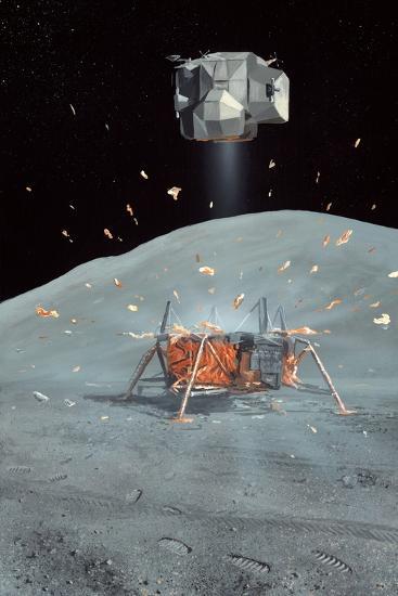Apollo 17 Ascent Stage, Artwork-Richard Bizley-Photographic Print