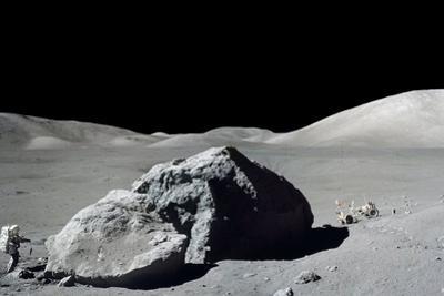 Apollo 17 Astronaut Harrison Schmitt During the Final Moonwalk of the Apollo Program