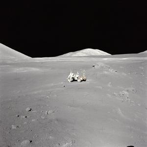 Apollo 17 Geologist-Astronaut Harrison H Schmitt at the Taurus-Littrow Landing Site
