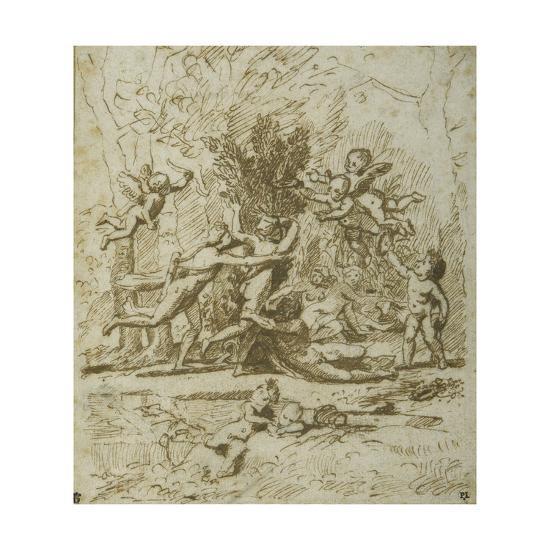 Apollo and Daphne, C.1635-Nicolas Poussin-Giclee Print