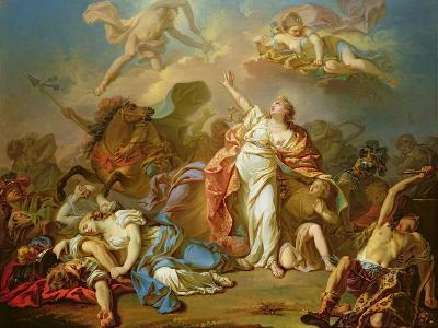 Apollo and Diana Attacking the Children of Niobe-Jacques-Louis David-Giclee Print