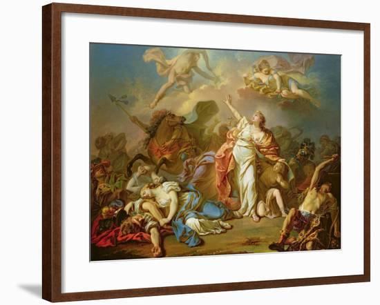 Apollo and Diana Attacking the Children of Niobe-Jacques-Louis David-Framed Giclee Print