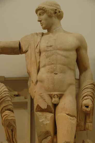 Apollo. Decoration of the Temple of Zeus in the Sanctuary of Olympia. Greece--Giclee Print