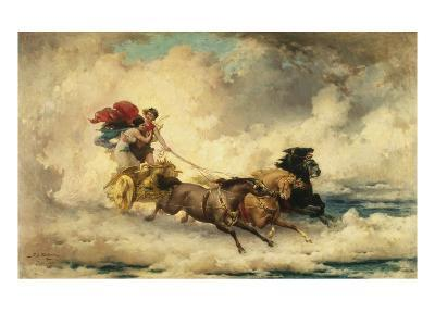 Apollo in the Chariot of the Sun-Frederik Arthur Bridgman-Giclee Print