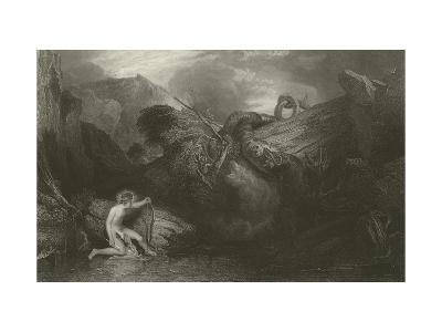 Apollo Killing the Python-J^ M^ W^ Turner-Giclee Print