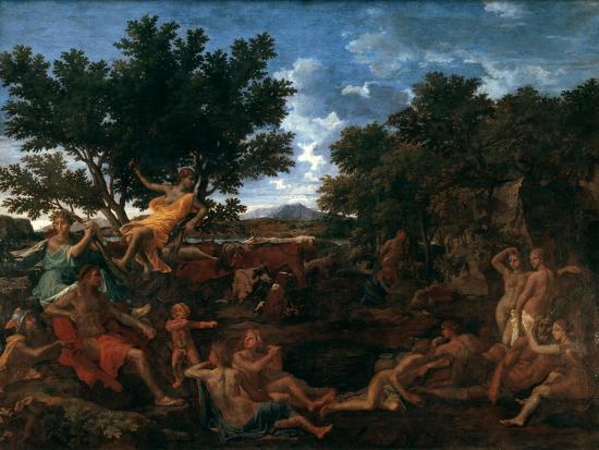 Apollo, Lover of Daphne, C1664-Nicolas Poussin-Giclee Print