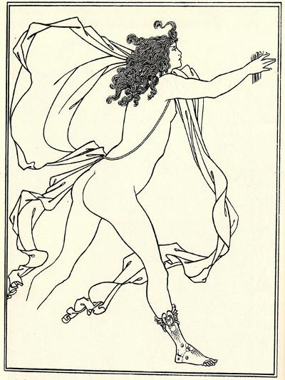Apollo Pursuing Daphne, 1896-Aubrey Beardsley-Giclee Print