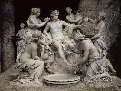 Apollo Served by the Nymphs-François Girardon-Giclee Print