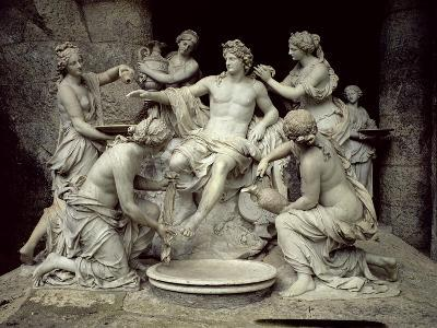 Apollo Tended by the Nymphs, Intended for the Grotto of Thetis-Francois Girardon-Giclee Print