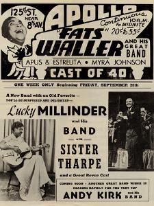 Apollo Theatre  Handbill: Fats Waller, Lucky Millinder, Sister Tharpe