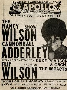 Apollo Theatre: Nancy Wilson, Cannonball Adderley, Duke Pearson, Flip Wilson, and The Impacts; 1968