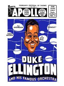 Apollo Theatre Newspaper Ad: Duke Ellington and Orchestra, Isabel Brown, Ivy Anderson and More