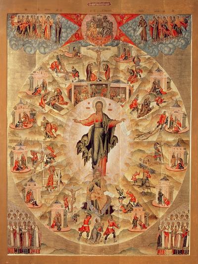 Apostle Preaching (Tempera on Panel)-Fjodor Subov-Giclee Print
