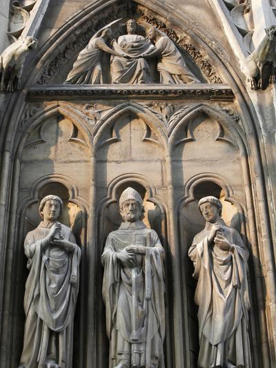 Apostle Sculptures, South Facade, Notre Dame Cathedral, Paris, France, Europe-Godong-Photographic Print