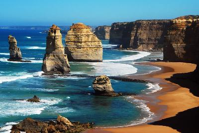 Apostles on Great Ocean Road, Melbourne-Tristan Brown-Photographic Print