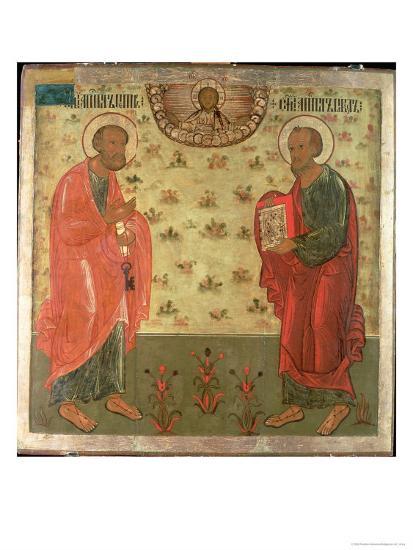 Apostles Peter and Paul, 1708-Feoktist Klimentov-Giclee Print