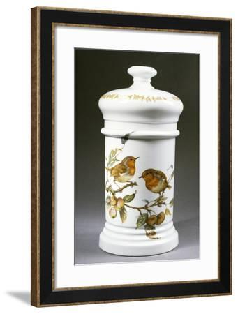 Apothecary Jar Decorated with Birds--Framed Giclee Print