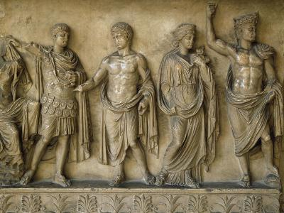 Apotheosis of Augustus, Fragment of Bas-Relief AD--Giclee Print