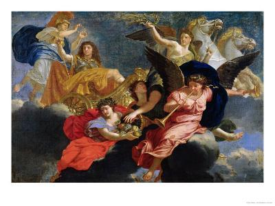 Apotheosis of King Louis XIV of France-Charles Le Brun-Giclee Print